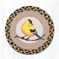 Garden Song Bird Braided Tablemat - Round (10 inch)