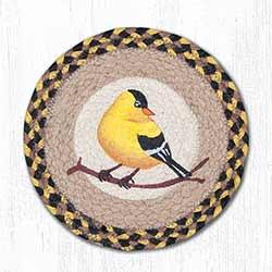 Garden Song Bird Braided Tablemat - Round (10 inch)