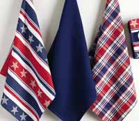 Design Imports (DII) Stars and Stripes Dishtowel