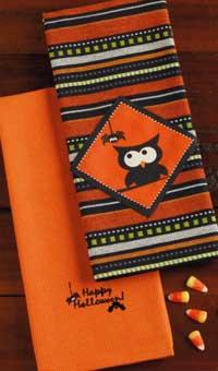 Design Imports (DII) Spooks & Hoots Dishtowel