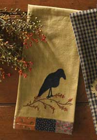 Harvest Blessings Crow Decorative Dishtowel