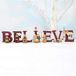 Believe Nativity Set