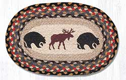 Bear/Moose Hand Braided Tablemat - Oval (10 x 15 inch)