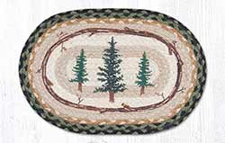 Tall Timbers Braided Tablemat - Oval (10 x 15 inch)