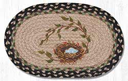 Robins Nest Hand Braided Tablemat - Oval (10 x 15 inch)