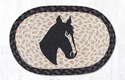 Horse Portrait Braided Tablemat - Oval (10 x 15 inch)