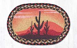 Desert Sunset Braided Tablemat - Oval (10 x 15 inch)