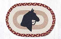Horse Silhouette Braided Tablemat - Oval (10 x 15 inch)