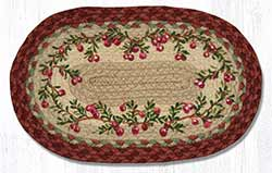 Cranberries Hand Braided Tablemat - Oval (10 x 15 inch)