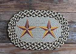 Golden Barn Star Braided Jute Tablemat