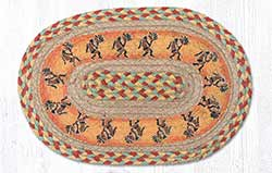 Kokopelli Braided Tablemat - Oval (10 x 15 inch)