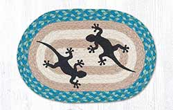 Gecko Braided Tablemat - Oval (10 x 15 inch)