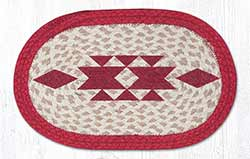 Diamond Braided Tablemat - Oval (10 x 15 inch)
