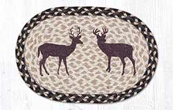 Deer Silhouette Braided Tablemat - Oval (10 x 15 inch)