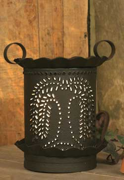 Punched Willow Junior Round Wax Warmer - Rustic Brown
