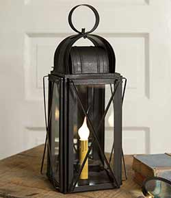 Rustic Milk House Electric Lantern