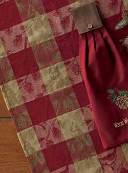 Cardinal in the Pines Jacquard Dishtowel