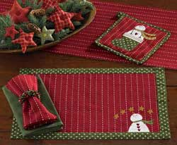Home for Holidays Applique Placemat
