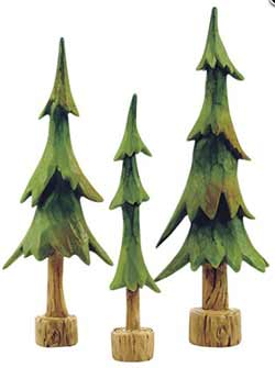 Evergreen Trees (Set of 3)