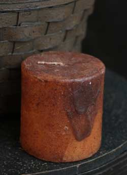 Primitive Mustard Pillar Candle - 3 x 3 inch