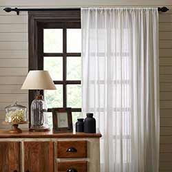 Antique White Tobacco Cloth Curtain Panels