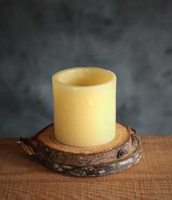 Ivory LED Pillar Candle (3 inch)