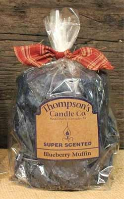 Blueberry Muffin Primitive Pillar Candle - Medium