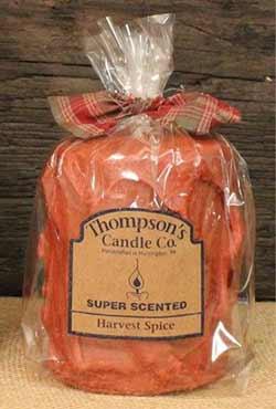 Harvest Spice Primitive Pillar Candle - Medium