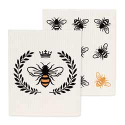 Bee Swedish Dish Cloths (Set of 2)