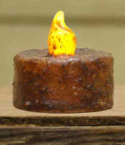 Burnt Mustard Battery Tealight
