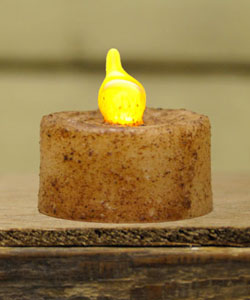 Burnt Ivory Battery Tealight