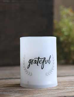 Grateful LED Pillar Candle with Timer