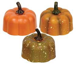 Pumpkin Battery Tealight Candles (Set of 3)