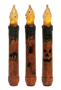 Halloween Timer Taper Candles (Set of 3)