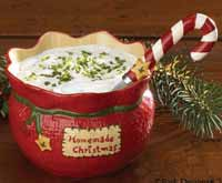 Christmas Sampler Dip Bowl and Spreader Set