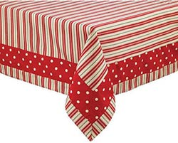 Holly Dots Tablecloth, 54 x 54 inch