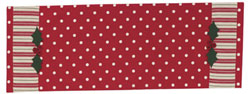 Holly Dots Tablerunner, 36 inch