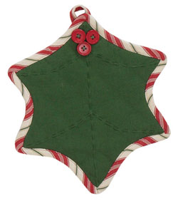 Holly Dots Pot Holder
