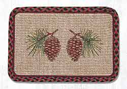 Pinecone Wicker Weave Placemat