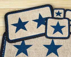 Blue Star Wicker Weave Placemat