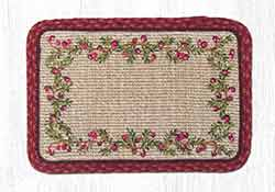 Cranberries Wicker Weave Placemat