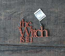 Witch is In Glitter Ornament - Orange