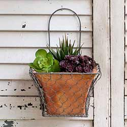 Chicken Wire Wall Planter - Square