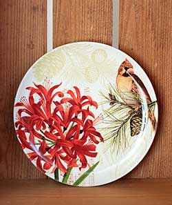 Nature Sings Plate with Female Cardinal
