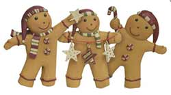 Gingerbread Men with Candy (Set of 3)