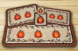 Harvest Pumpkin Wicker Weave Tablerunner (36 inch)