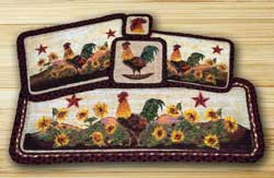 Morning Rooster Wicker Weave 36 inch Table Runner