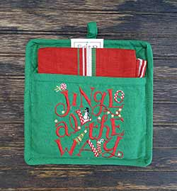 Jingle All the Way Potholder Set