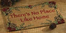 No Place Like Home Pinecone Doormat