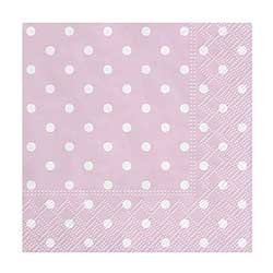 Pink Polka Dot Cocktail Paper Napkins